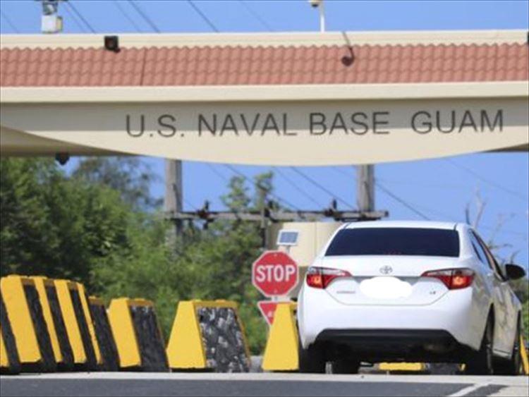 気をつけよう!グアムの海軍基地入り口での運転